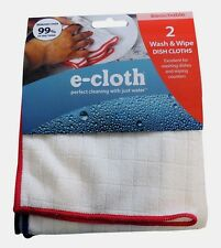 2pk E-Cloth WASH & WIPE Dish Cleaning Cloth Dish Rag Wiping Counters REUSABLE!!!