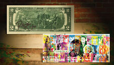PLAYBOY Hugh Hefner OFFICIAL $2 U.S Bill SIGNED by RENCY Numbered of 91 (BEAUTY)