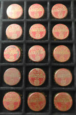 Vintage Lot Of 15 Trappey's Strawberry Cork Soda Bottle Caps - Louisiana Tax