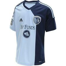 ADIDAS CLIMACOOL MLS SPORTING KANSAS CITY SKC Soccer Jersey - YXL - NWT $65