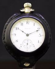 Elgin Vintage Pocket Watch Military Style Handmade Leather Band Wrist Conversion