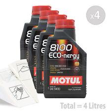 Car Engine Oil Service Kit / Pack 4 LITRES Motul 8100 Eco-nergy 5W-30 5W30 4L