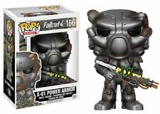 "Fallout 4 - X-01 Power Armor 3.75 "" POP VINILE Statuetta Funko 166 VENDITORE UK"