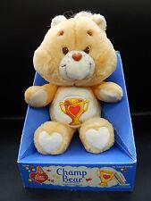 1985 vintage Kenner CHAMP BEAR Care Bears plush toy cute doll w/ box unused MIB