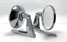 """PAIR OF VINTAGE CHROME ROUND 4.75"""" MIRROR MUSCLE CAR HOT ROD STREET ROD"""