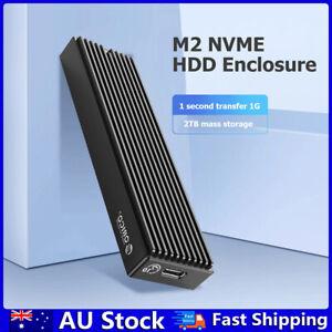 ORICO M2PV-C3 Type-C M.2 NVME SSD Enclosure USB3.1 10Gbps External Box Case AU