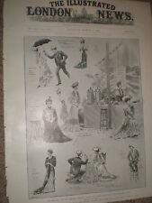 Play riciclaggio degli JULIA al Garrick Theatre di Londra 1903 Old print