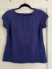 Texture Clothing Hemp T-shirt Cap Sleeve Top Small Blue USA Made