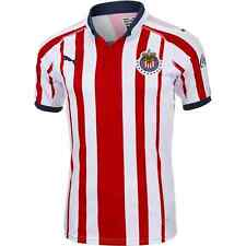 NWT PUMA MENS CHIVAS 2018-2019 RED WHITE OFFICIAL FOOTBALL SOCCER HOME JERSEY