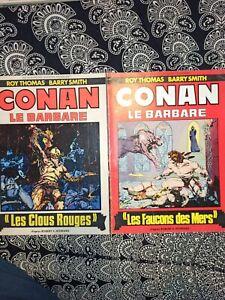 """Lot Conan """"Les Clous Rouges"""" + """"Les Faucons Des Mers"""" Thomas / Smith 1976 / 1977"""