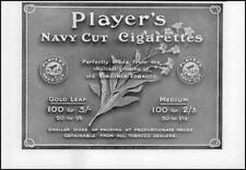 1912 ADVERTISING Players Navy Cut Cigarettes (117)