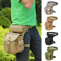 Men Tactical Waist Pack Drop Leg Bag Belt Military Bag Hiking Riding Waterproof