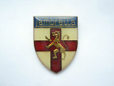 VINTAGE LAMBRETTA SIGN SCOOTER MOTORCYCLE BIKE GB MODS ST GEORGE CROSS PIN BADGE