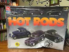 AMT ERTL HOT RODS Ford Coupe Ford Delivery Chevrolet Cabrolet Set of 3 in box