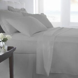 1000 TC Egyptian Cotton Deep Pocket Bedding Item All Colors Queen Size Solid