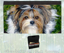 BIEWER TERRIER parti Yorkie wallet dog art painting card holder change purse