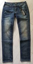 Tigha Herren  Super Slim Fit Jeans Morten dirty  vintage indigo Size 34/34