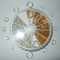 SELECTION OF BOXED SILVER & GOLD PLATED JUMP RINGS 4mm 5mm 6mm 7mm 8mm 10mm JR1