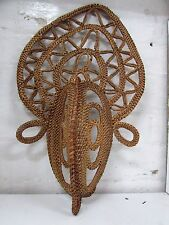 OLD NEW GUINEA VINTAGE ABELAM YAM MASK WOVEN CEREMONIAL WOVEN CANE