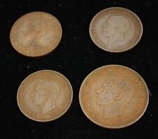 1929-1962 Half/One Penny- LOT OF 4 UK COINS - Bronze -  Extremely Fine Condition