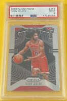 2019-20 Panini Prizm Coby White RC Rookie #253 PSA 9 Mint CHICAGO BULLS