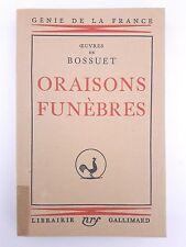 """Oraisons funèbres"" Œuvres de Bossuet (1935)"