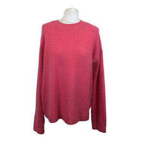 And & Other Stories Wool Blend Pink Long Sleeve Oversized Sweater Jumper Sz M