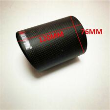 "3"" Car Carbon Fiber Exhaust Muffler Pipe Cover Tip Decoration Case w/ Logo"