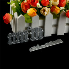 2Pcs Fence Design Metal Cutting Die For DIY Scrapbooking Album Paper Cards DS