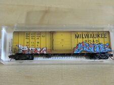 N Scale Micro Trains MTL02544780 Milwaukee RoadWeathered with Graffiti