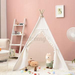 Tipi Zelt Spielzelt Kinderzelt Babyzelt Spielhaus Kinderzimmer für Kinder Weiß