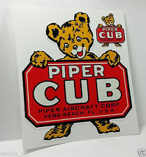 Piper Cub Aircraft Co. Vero Beach FL. Vintage Style Airplane Decal,Vinyl Sticker