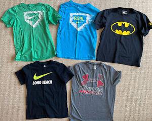 Boys Nike, Under Armour Tshirt Lot!  sz M. Lot of 5 tshirts!