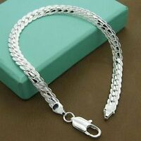 Fashion  Silver Plated Jewelry Men Women Bracelet Bangle Jewlery Party Gift