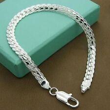 Men Women Simple Style Silver Bracelet Bangle Fashion Wedding Jewelry Gifts