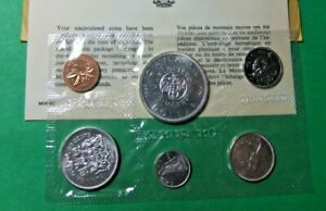 1964 Canada Silver Dollar 6-Coin Set - Proof-like, UNC, in Plastic Wafer
