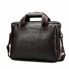 Leather Laptop Notebook Bag Mens Briefcase Casual Work Shoulder Bag
