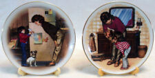 1985 & 1986 Avon Mother'S Day Plates Plate Stands Included Special Memories