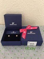 100% Auth Swarovski Crystal Incentive Stud Pierced Earrings Rose Nib $80 5225982