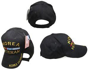 Black Korea Korean War Veteran Ribbon Baseball Hat Cap Embroidered Brand New