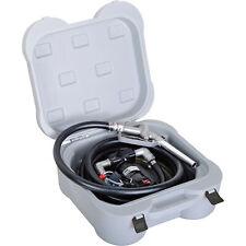 Roughneck Portable 12v Fuel Transfer Pump Kit 10 Gpm Manual Nozzle Hose