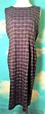 Sheath Dress Vintage Calvin Klein Gray and Black Houndstooth Size 12 Petite
