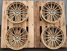 19 Zoll Ultra UA4 Alu Felgen Gold 8,5x19 et45 5x112 Gutachten für S3 GTI RS AMG