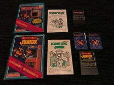 DONKEY KONG AND DONKEY KONG JUNIOR INTELLIVISION GAMES, W/BOXES/MANUALS/OVERLAYS