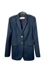 Burberry Brit Women's Navy Blue Two Bottom Blazer Jacket Size 40 / US 8 / UK 10