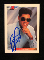 RYAN LONG 1992 BOWMAN AUTOGRAPHED SIGNED AUTO BASEBALL CARD 79 ROOKIE RC