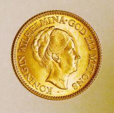 1925 Netherlands 10 Gulden Gold Coin for Wilhelmina