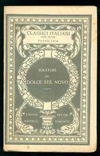 RIMATORI DEL DOLCE STIL NOVO UTET 1925 CLASSICI ITALIANI 30 POESIA