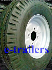 """KENDA 500x10 8ply TRAILER TYRE ON 4"""" PCD STARCO RIM GREASE CUT OUT RATED 500Kg"""