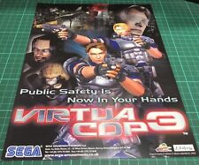Sega Virtua Cop 3 Arcade Videogame Flyer, Advert